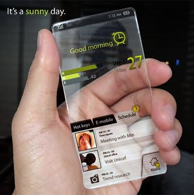 Hi tech transparent mobile phone