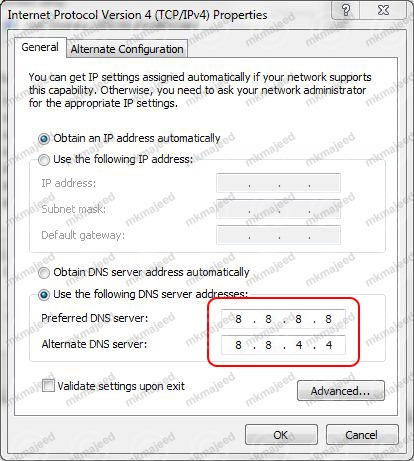 how to use alternate dns servers setup in firefox