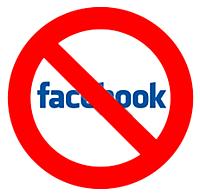 no facebook