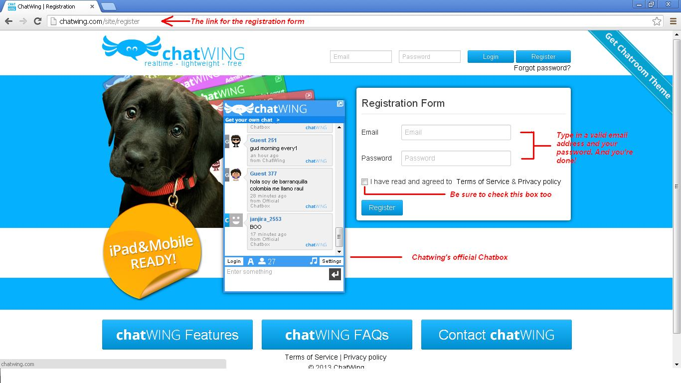 Register-Chatwing-Account