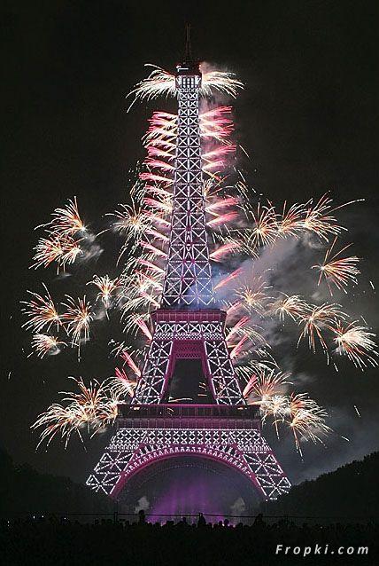 Biggest Fireworks on Eiffel Tower