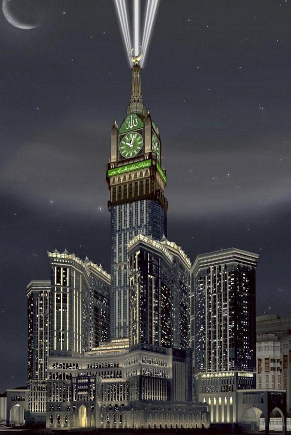 bird eye view of Makka Clock