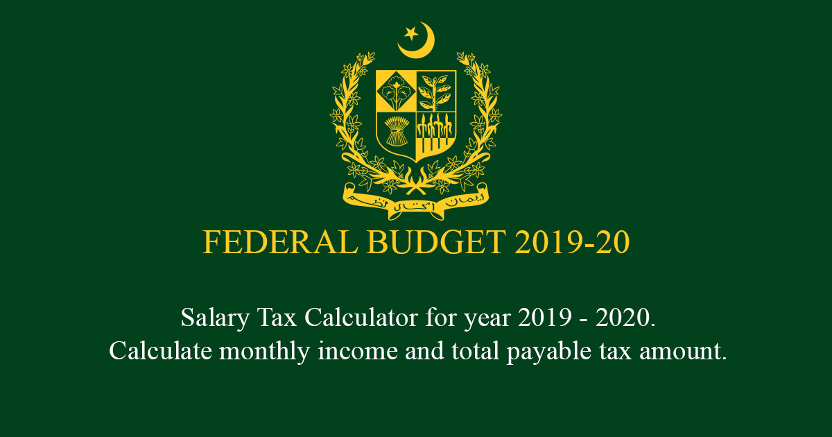 Salary Tax Calculator 2019-2020